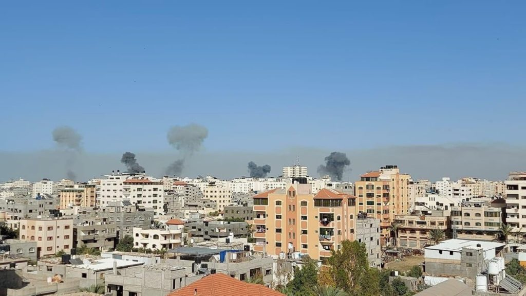 Israel bombing Palestine