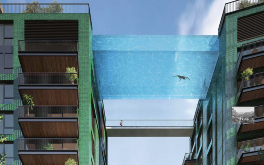 "London's new ""Sky Pool"" vs. local swimming gems"
