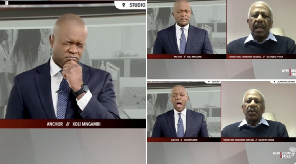WATCH: Hilarious reactions to Matthews Phosa's F-bombs on live TV