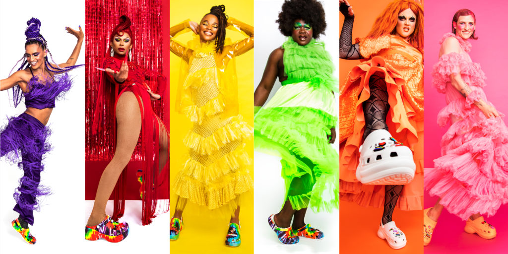 Crocs released a gorgeous range for Pride and the rainbow steps have our hearts beaming