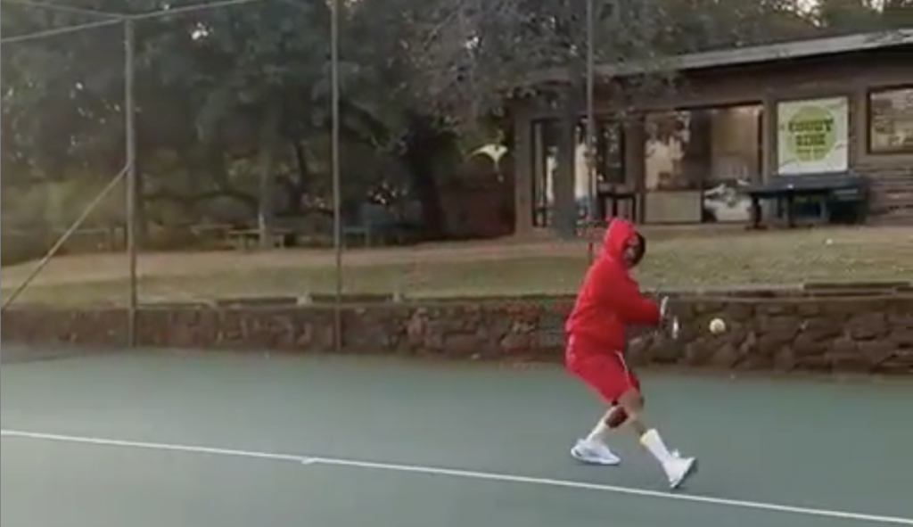 WATCH: TV personality Somizi has us LOL-ing at his tennis lesson