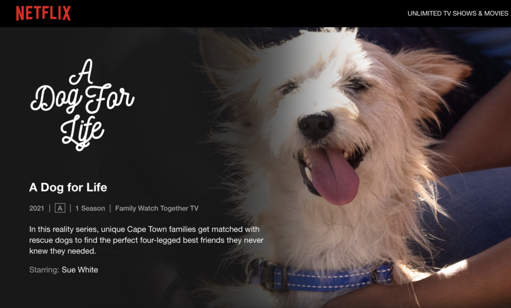 New Cape Town-based Netflix series is all about finding the pawfect match