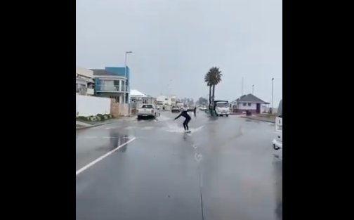 WATCH: Melkbosstrand roads flooded - some were concerned, others went surfing