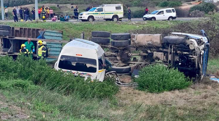 Seven people killed after taxi and truck collided near Melkbosstrand