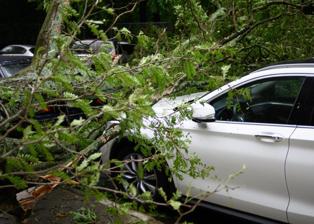 Weather havoc - accidents, flooding, electrical faults, road damage