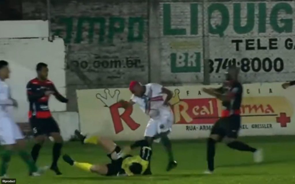 WATCH: Brazilian footballer charged with attempted murder after attacking referee