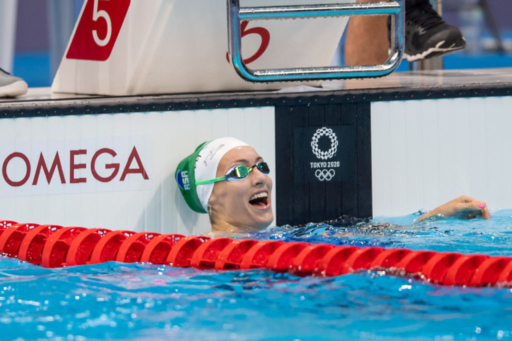 South Africa's Tatjana Schoenmaker sets new Olympic record
