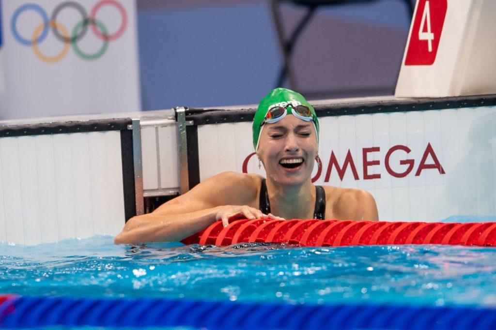 Olympic record for Schoenmaker in the women's 200m breaststroke