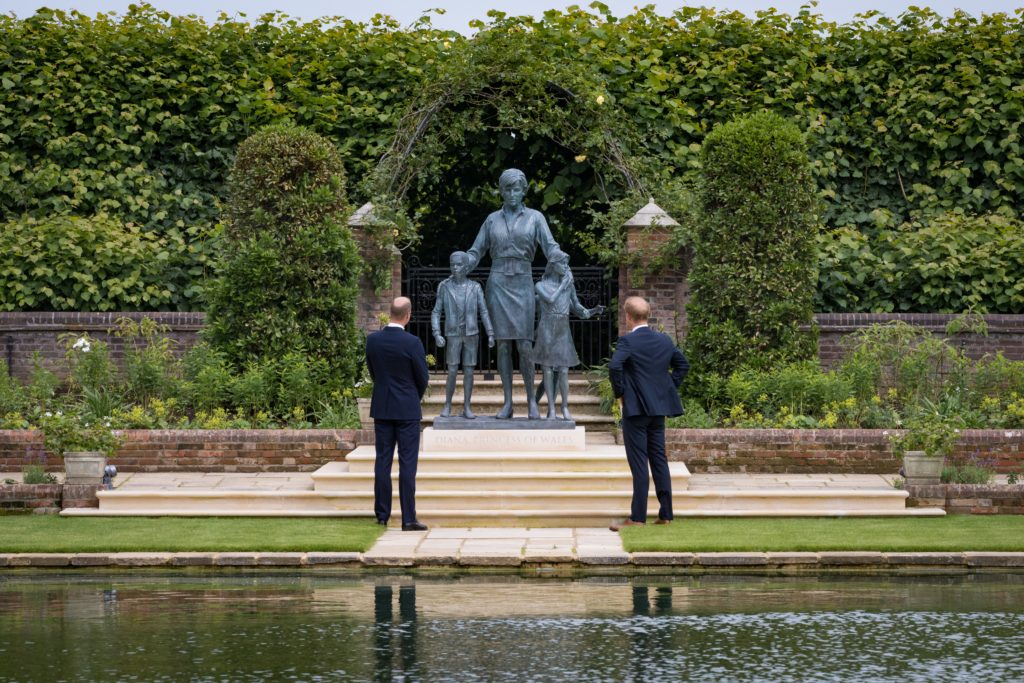 Prince William and Prince Harry unveil new statue of Princess Diana