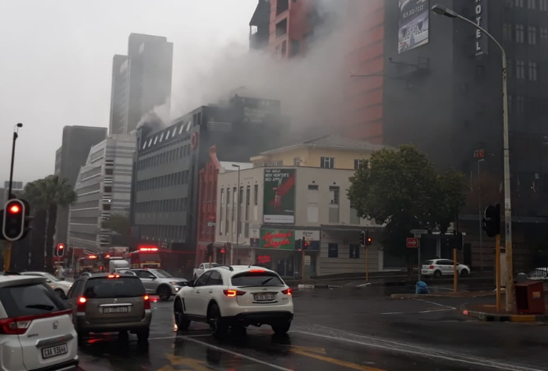Fire damages documents at Public Protector's office