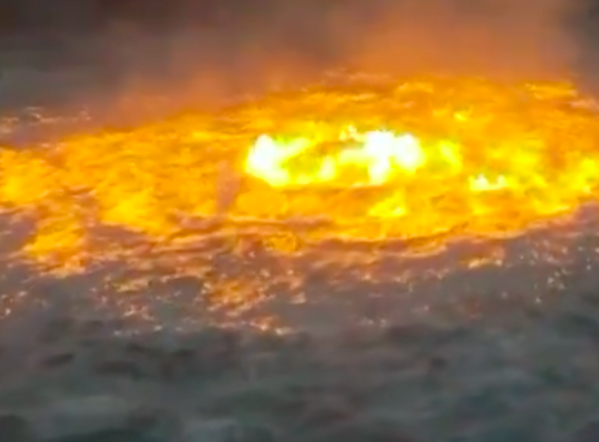 WATCH: Gulf of Mexico on fire