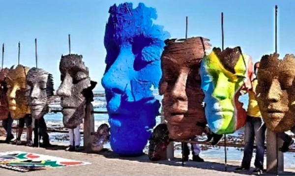 Capetonian Artist behind face parade that travelled through the Mother City