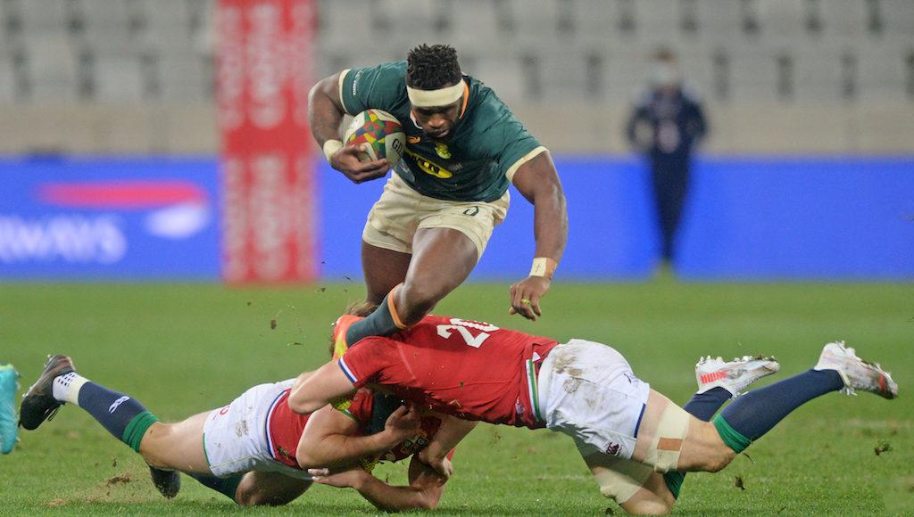 Springbok captain Siya Kolisi jokes about his post-match armpit stench