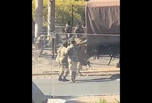 WATCH: SANDF soldier battles to climb into military truck, SA questions fitness test