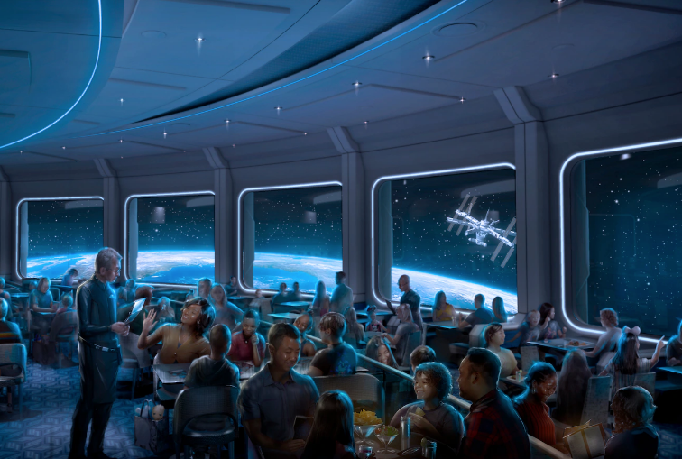 Dine amongst the planets and stars at Disney's Space 220