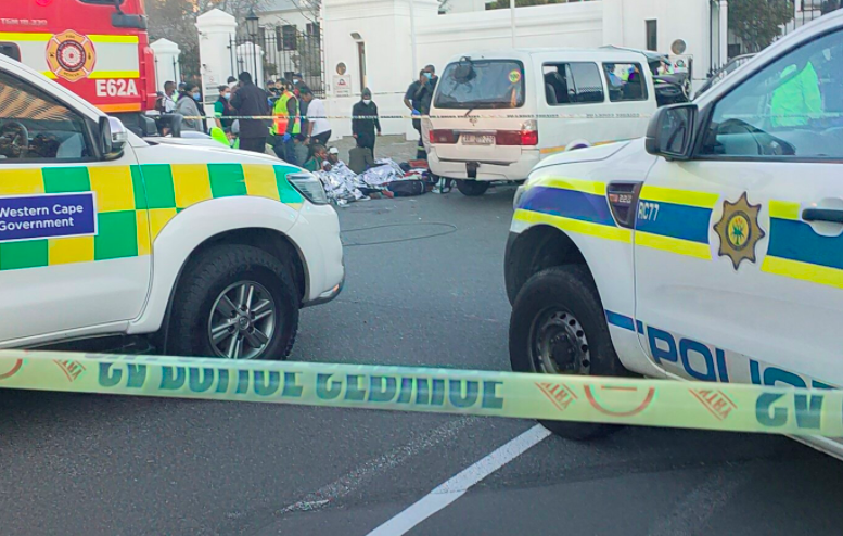 At least 20 pupils injured after their school transport crashed outside Parliament