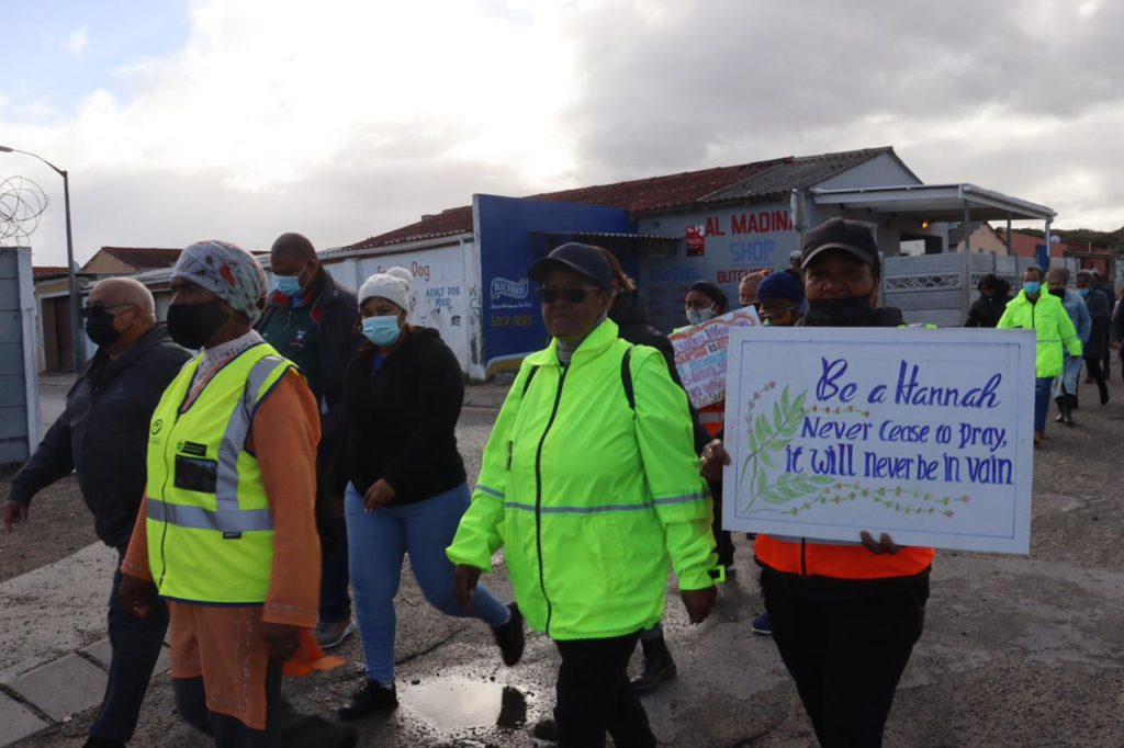 MEC Fritz walks the streets of Mitchells Plain in support of Women's month