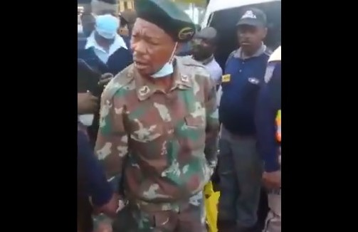 WATCH: SANDF soldier in the spotlight for being intoxicated
