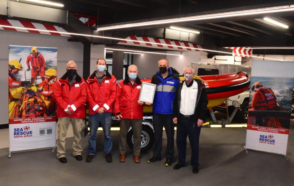 Local JetRIB Sea Ranger receives Innovation Award after building revolutionary boat for NSRI