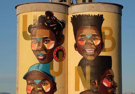 Cape Town gets a gigantic Ubuntu-inspired mural