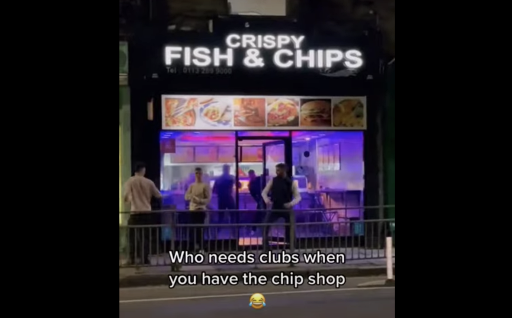 WATCH: who needs a nightclub when you can get fish and chips with a vibe?