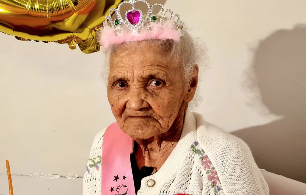 The province's oldest resident celebrates her 115th birthday