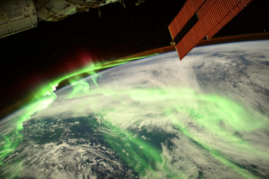 An astronaut shared an epic snap of the aurora from the space station