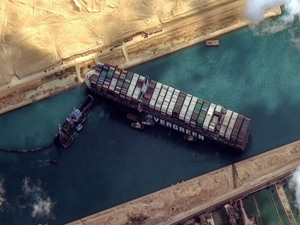 Suez Canal reportedly blocked for the second time this year