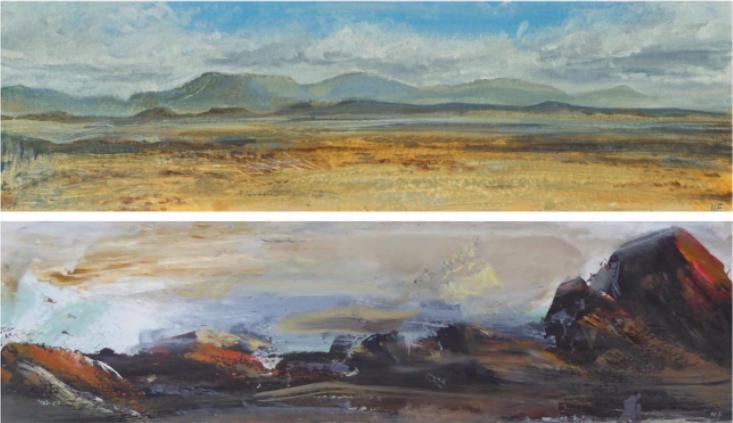 Former expat returns love to landscapes in art-form